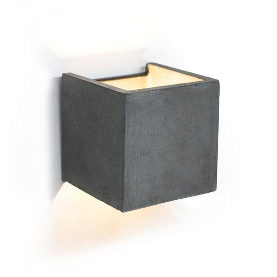 Concrete wall lamp, concrete wall light, wall sconce light ...