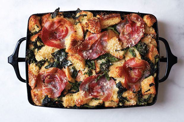 Find the recipe for Parmesan Bread Pudding with Broccoli Rabe and Pancetta and other broccoli rabe recipes at Epicurious.com