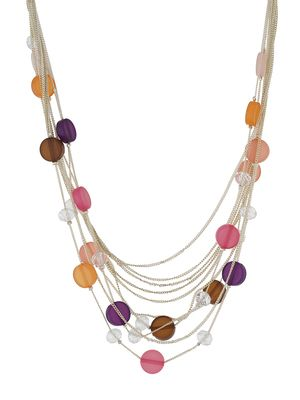 One Stop Fashion Fashionable And Trendy Multi Colour Beads And Crystal Neck Piece For Girls & Women Necklaces and Necklace Sets on Shimply.com