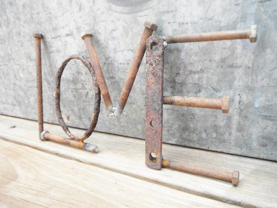 Hey, I found this really awesome Etsy listing at https://www.etsy.com/listing/189603093/metal-love-sign-metal-word-artrusty