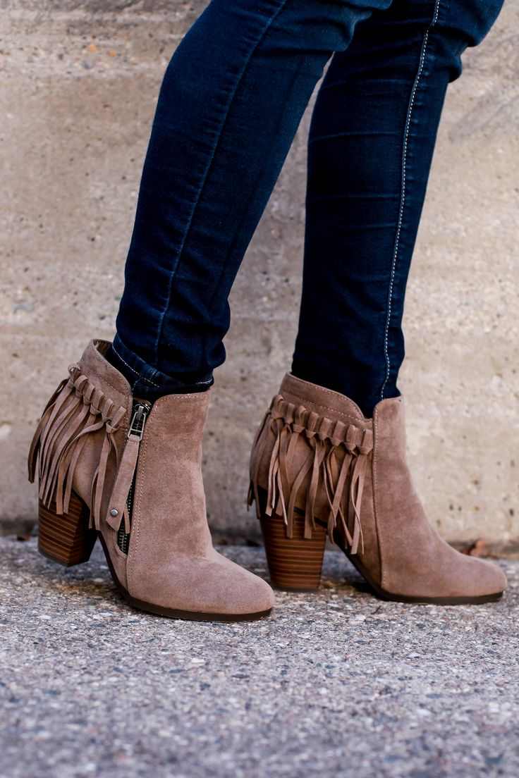 Our #1 bestselling bootie of the season! Faux leather Tassel detail
