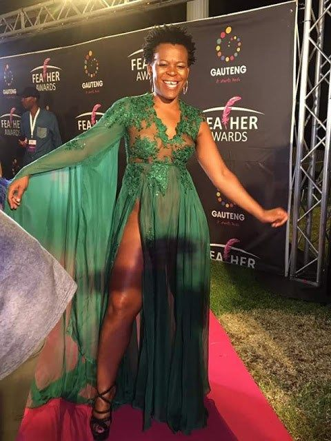 Not Again! South African Socialite Zodwa Wabantu Attends Award Night Without Panties(Photos).