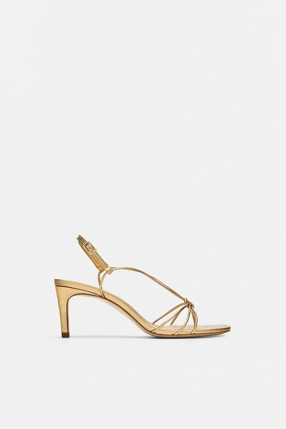 a3119633342 Image 2 of LEATHER HIGH HEELED STRAPPY SANDALS from Zara