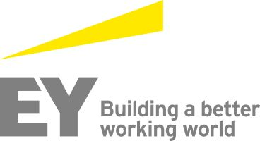 EY Ernst Young logo featuring 'the beam', rebrand took place in 2013 globally.
