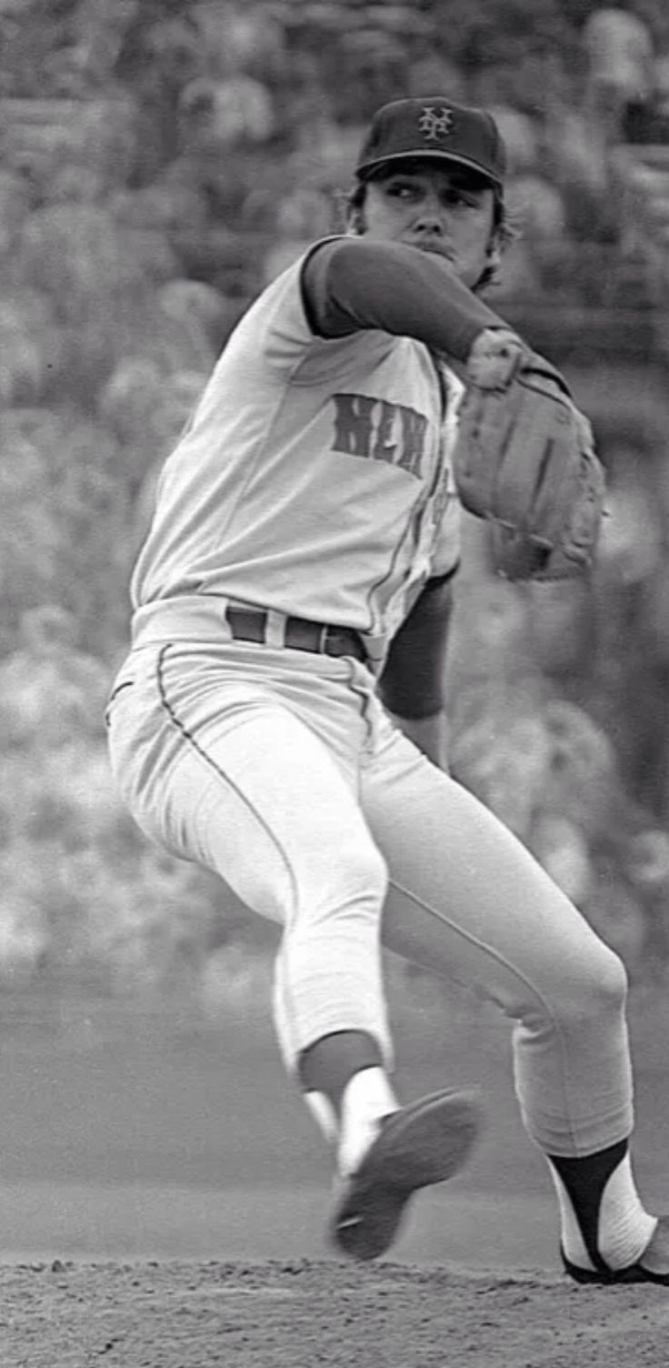 Tug McGraw pitched for the New York Mets from 1964-1974. He helped lead the Mets to their first World Series Championship in 1969 and was 12-for-12 in save opportunities that season.