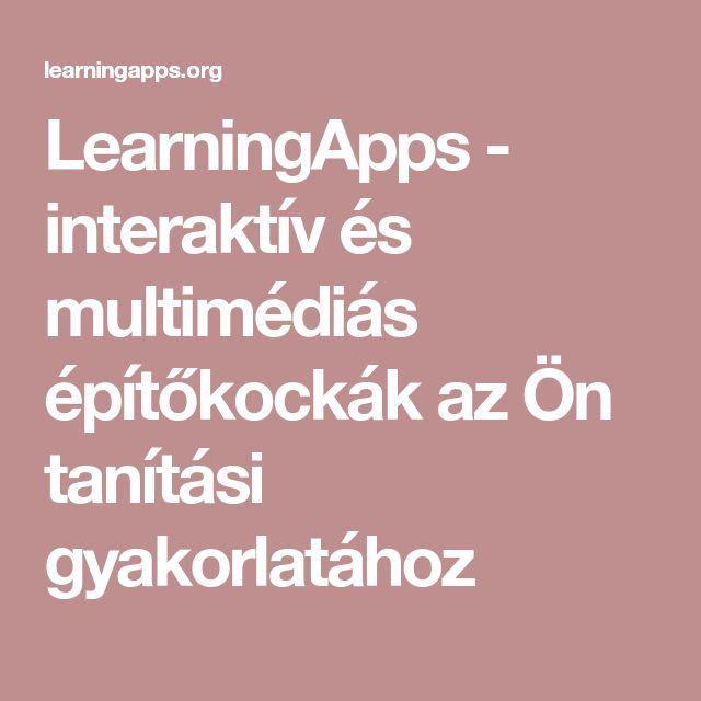 LearningApps - interaktív és multimédiás építőkockák az Ön tanítási gyakorlatához