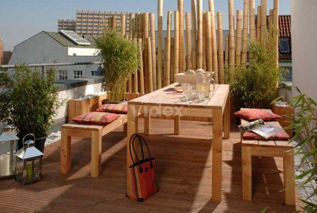 Firma Videx Garten kyoto Kioto Bambus Sichtschutz