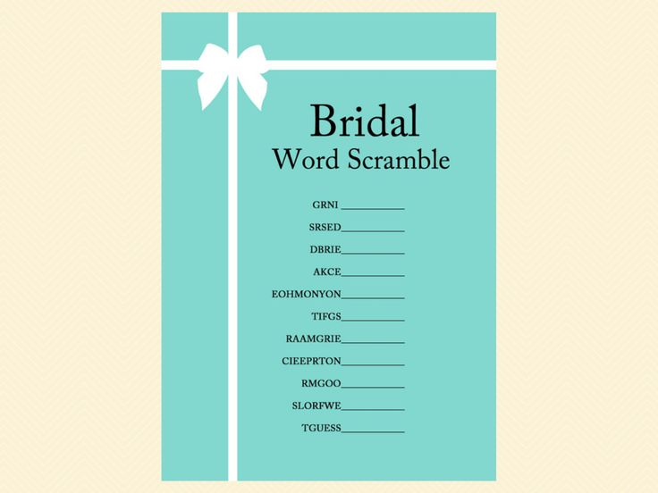 scramble, how well do you know the bride, who knows bride best, how to be a good wife guide, how old was bride, guess the age, finish bride's phrase, date night, bingo, apron game, advice for bride card, tiffany blue, tiffany bridal shower games, breakfast at tiffanys bridal shower