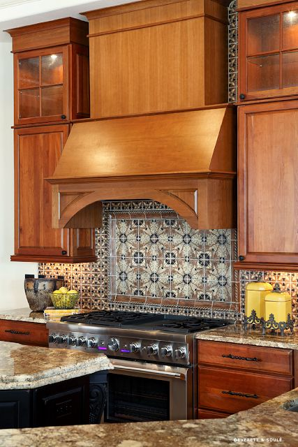 Decorative Hand Painted Tile Backsplash