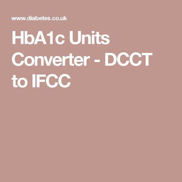 HbA1c Units Converter - DCCT to IFCC