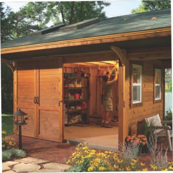 17 best images about english cottage designs on pinterest storage shed plans hunting cabin - Backyard sheds plans ideas ...