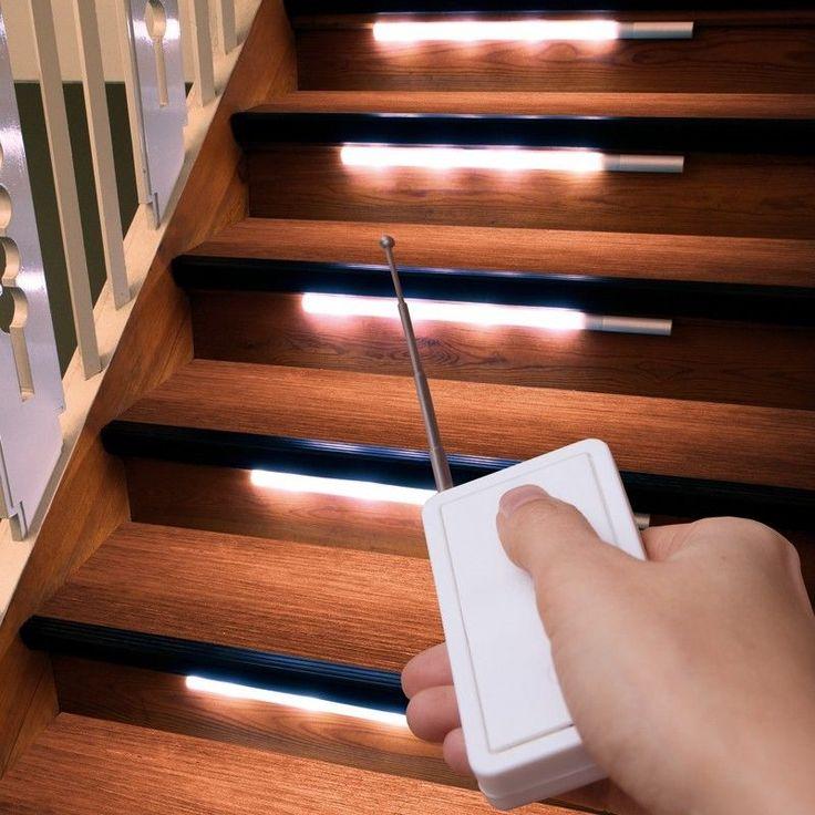 Cool er Set LED Treppenbeleuchtung mit Fernbedienung Treppen Leuchte Licht Leiste