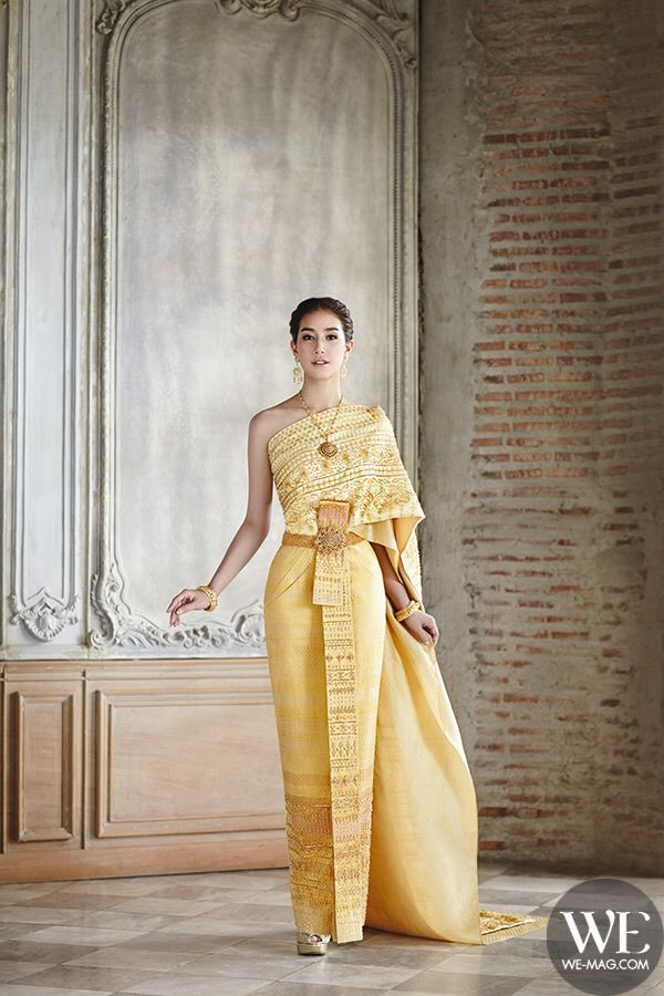 Mint Chalida, WE magazine. Traditional wedding dress
