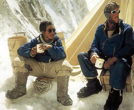 """On 29 May 1953 Edmund Hillary and his sherpaTenzing Norgay became the first men to summit Mount Everest.""     They never told anyone who first set foot on the summit. Still a mystery who was the ""first"" man to conquer everest."