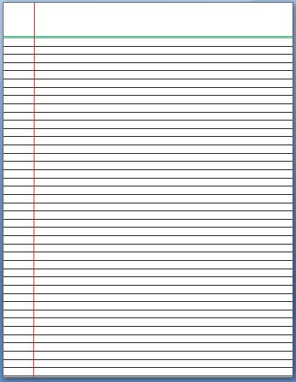Lined Paper Template  Microsoft Word Lined Paper Template