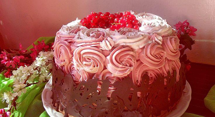 Tort cu ciocolată şi zmeură (Roxy &Anca) ~ Bucate, vorbe şi arome