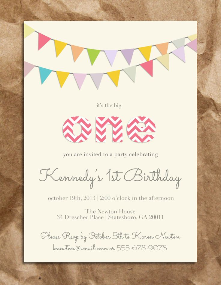 Cute and Sweet Girl's 1st Birthday Invitation by TheBrownPaperMoon on Etsy https://www.etsy.com/listing/163867266/cute-and-sweet-girls-1st-birthday