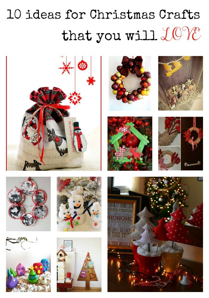 10 ideas for christmas crafts from Cook, Craft, Create - Craftaholic