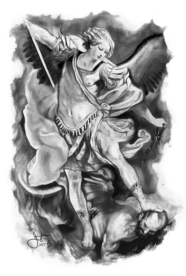 Saint Michael Pencil Drawing With Images Archaniol