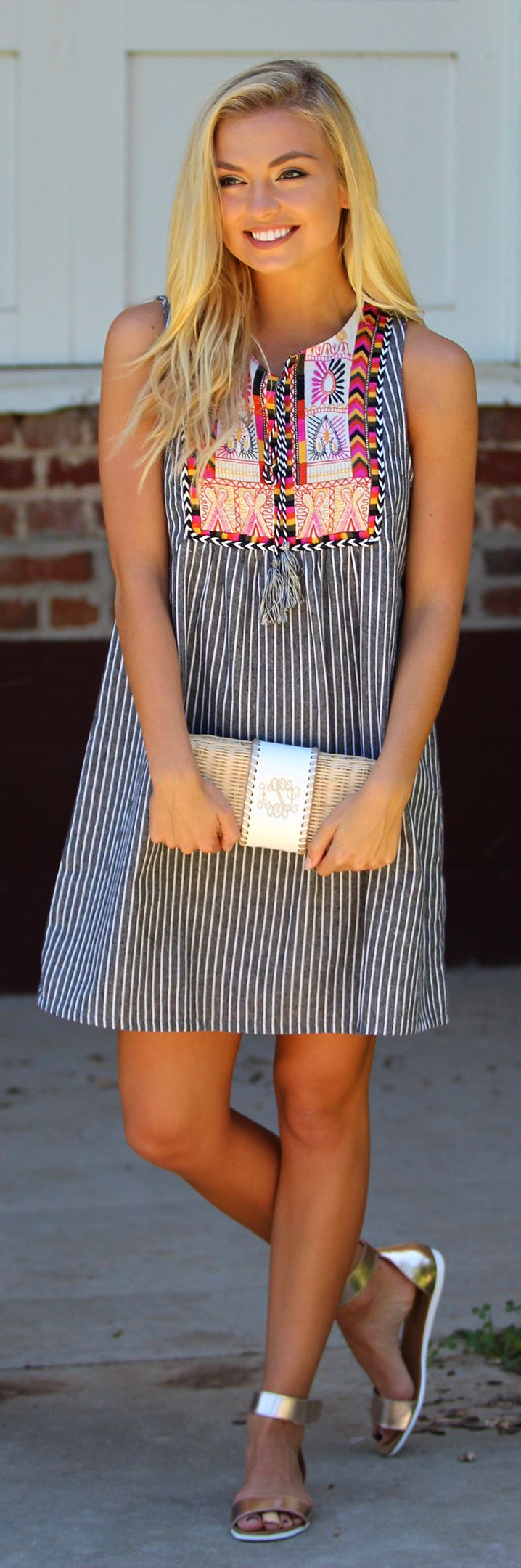 Accessorize any outfit with this adorable Monogrammed Wicker Clutch that's ON SALE!