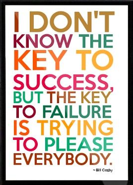 """""""I don't know the key to success, but the key to failure is trying to please everybody."""" Crystal Paine does it again - her writing is ON FIRE lately!! A must-read article for anyone who struggles with letting fear hold them back."""
