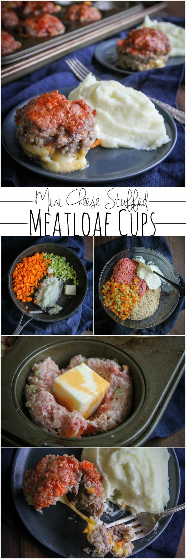 Mini cheese stuffed meatloaf cups from @sweetphi perfect for Sunday family dinner, ground beef recipe, egg free meatloaf, mini meatloaf cups, mini meatloaf recipe