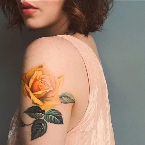 Yellow Flower Tattoo Design - Tattoo Shortlist
