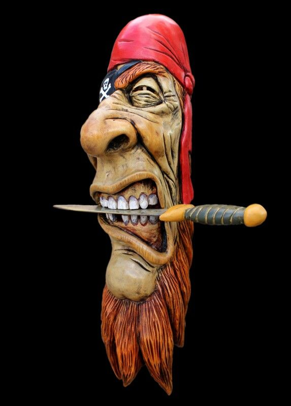 Wood pirate buccaneer face by damian