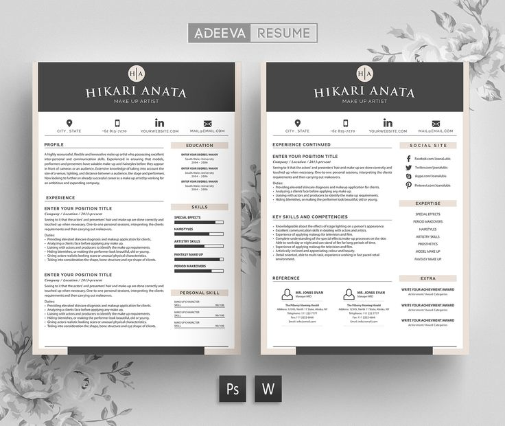 #Free #Download: Simple Resume Template Anata https://creativemarket.com/AdeevaResume/919315-Simple-Resume-Template-Anata?u=inspirationfeed