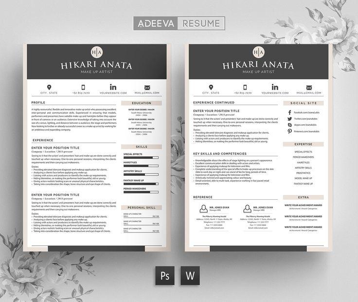 #Free #Download: Simple Resume Template Anata https://creativemarket.com/AdeevaResume/919315-Simple-Resume-Template-Anata?u=inspirationfeed