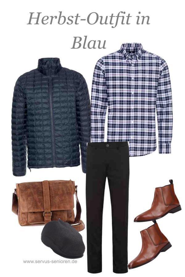 Männermode| Herbstliches Outfit in Blau