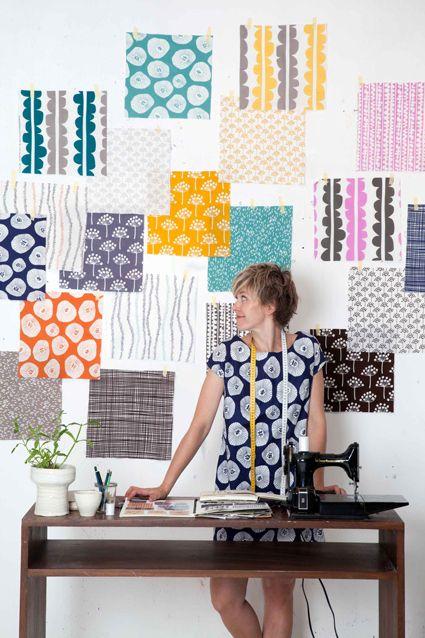 Echo fabric by Lotta Jansdotter