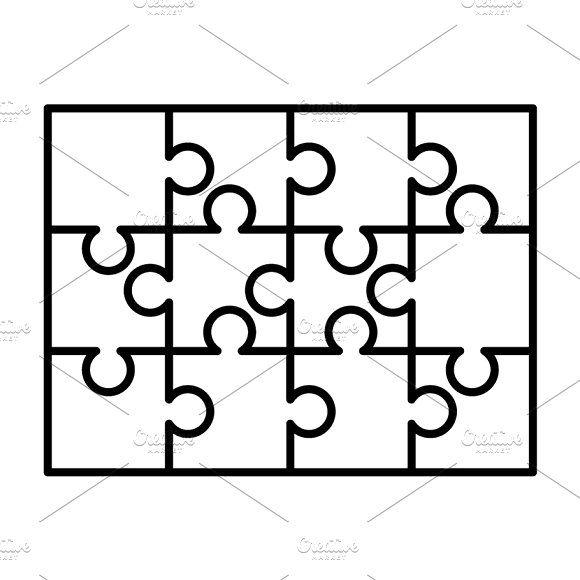 12 White Puzzles Pieces Template Puzzle Piece Template Puzzle