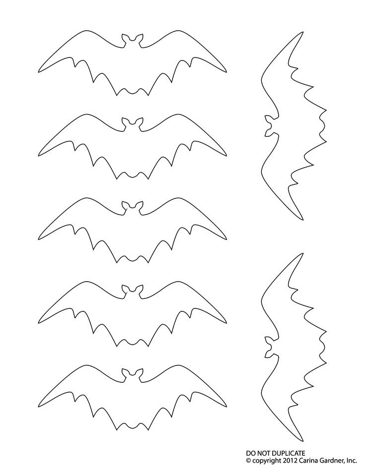 57 best Bat for preschool images on Pinterest Paper flowers - bat template