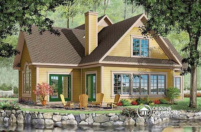 177 best images about plan de chalet dessins drummond for French chalet house plans