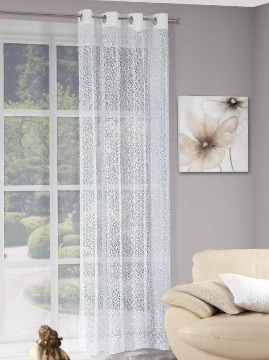 Biele jednodielne závesy na okno