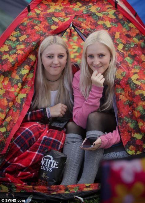 Sisters Olivia, 17, and Melissa Levesley, 22, from Sheffield...