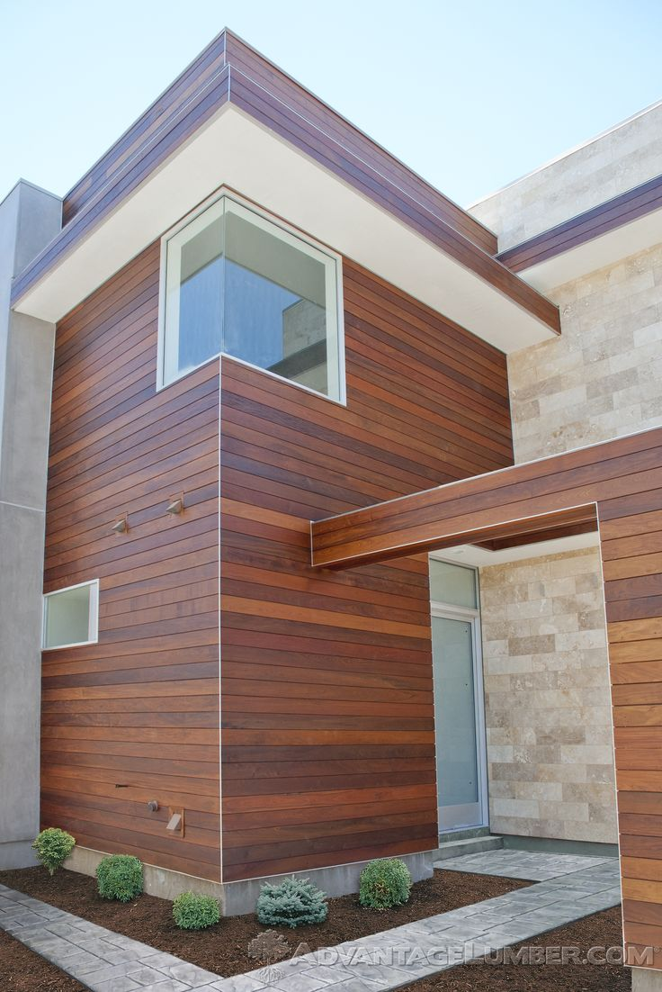 29 best exotic hardwood siding images on pinterest for Wood house exterior design