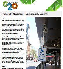 Brisbane G20 Summit | Fri 14th to Sun 16th Nov 2014 — Ned Martin's Dot Org