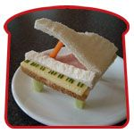 Piano Sandwich- M is for Museums and Masterpieces (food masterpiece day)