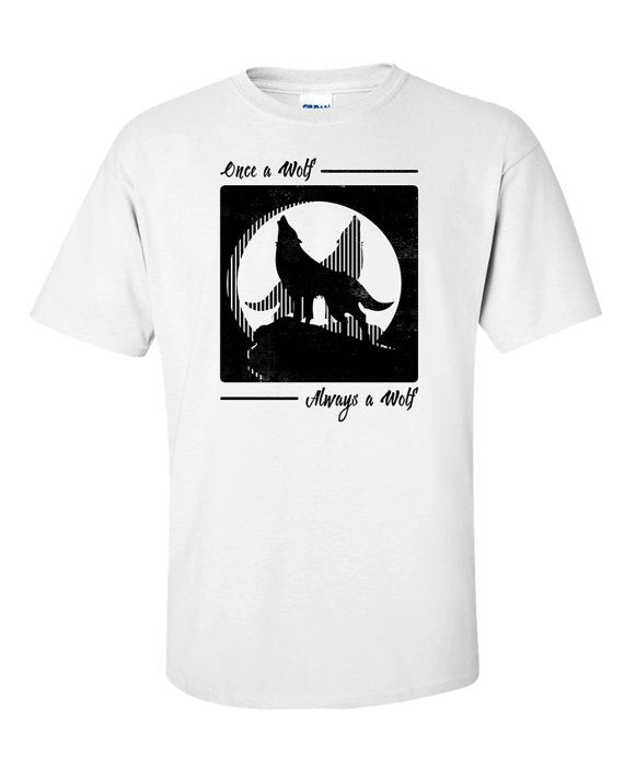 Wolf T Shirt Forest Wild Nature Wolves Quote Aesop by 969Tshirts