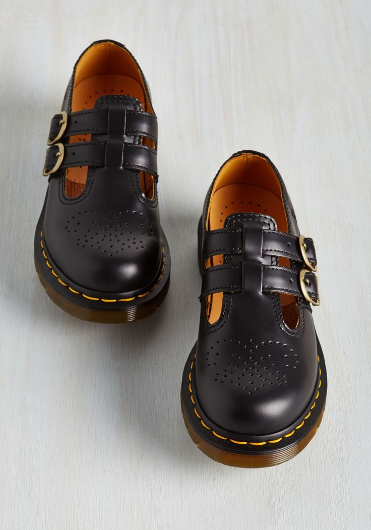 Hop, Skip, and a Punk Flat. After the secret show info leaks, you grab these black Dr. #black #modcloth