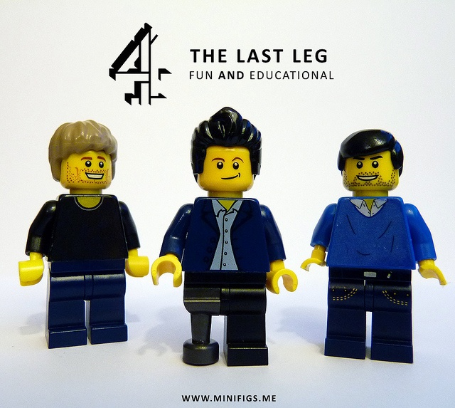Last Leg Lego - Alex Brooker, Adam Hills and Josh Widdicombe by Savage Steel's Minifigs, via Flickr