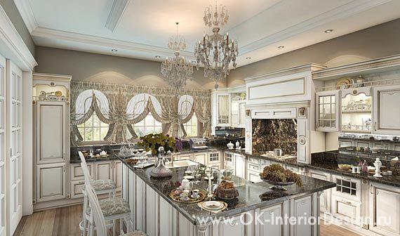 Дизайн интерьера кухни в классическом стиле http://www.ok-interiordesign.ru/blog/modern-classic-in-house-interior.html