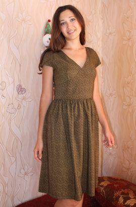 Оливковое платье / Фотофорум / Burda Style