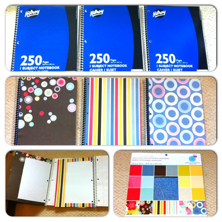 Diy Notebook Cover Ideas : Diy notebook covers with scrapbook paper pinterest