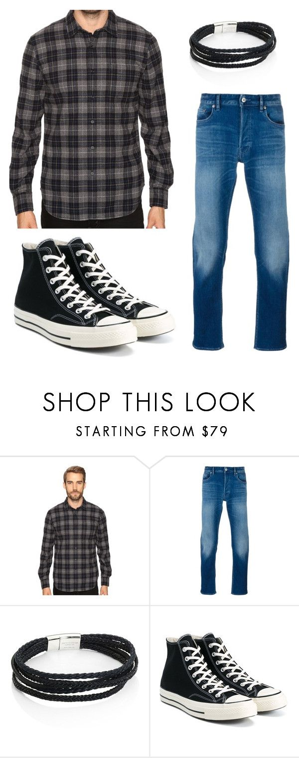 """Kitty"" by katie-k-123 on Polyvore featuring Joe's Jeans, STONE ISLAND, Tateossian and Converse"