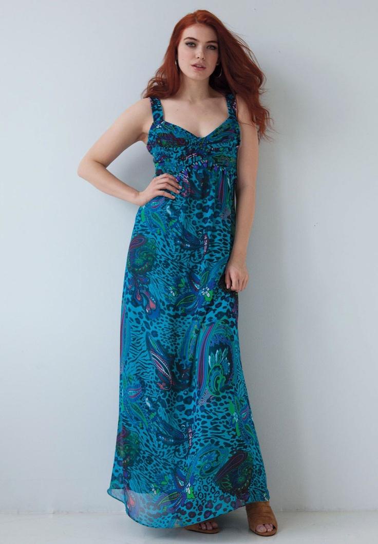 style london printed maxi dress