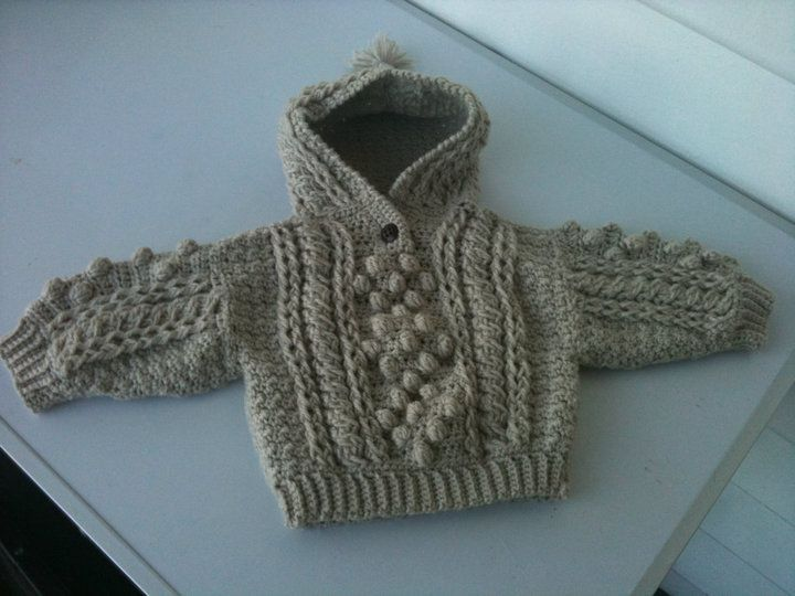 Free Crochet Pattern Shell Stitch Hooded Cardigan From