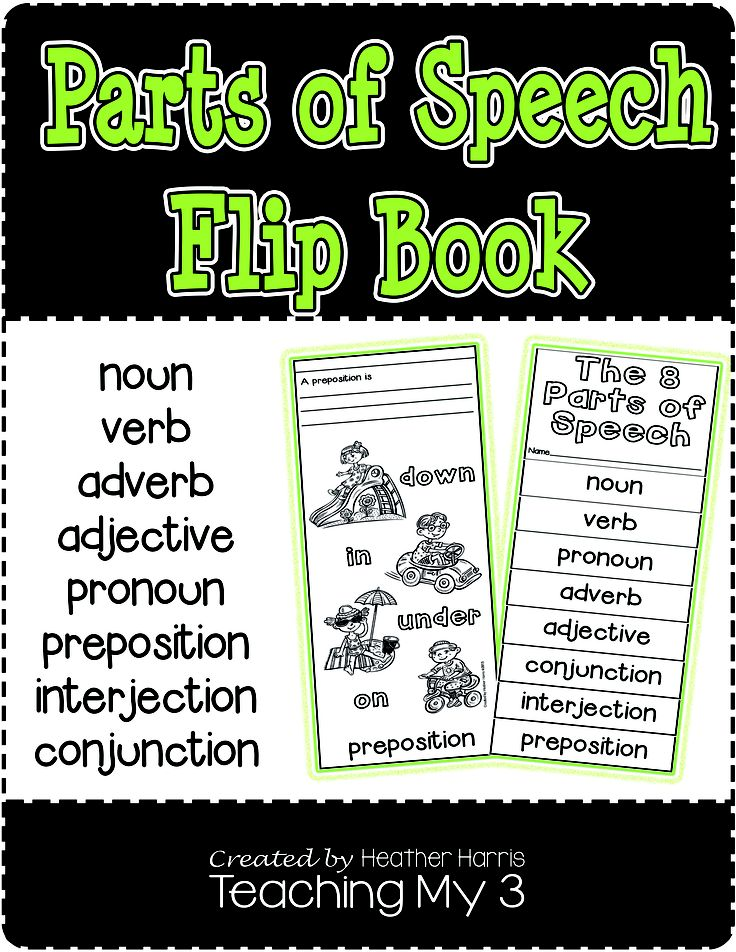 Help your students learn the 8 parts of speech with this flip book.